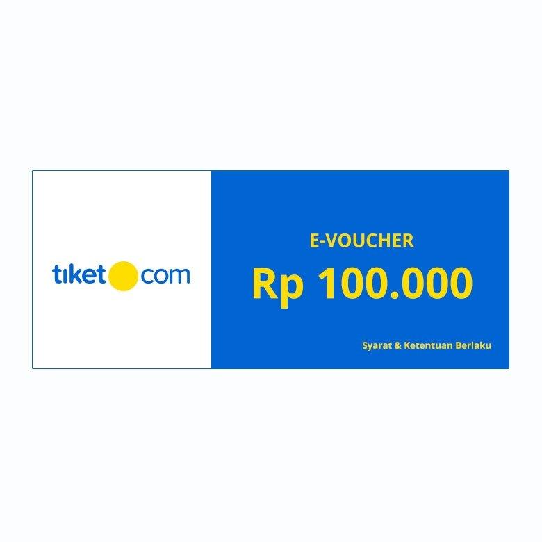 E-VOUCHER TIKET.COM RP. 100.000 NEW